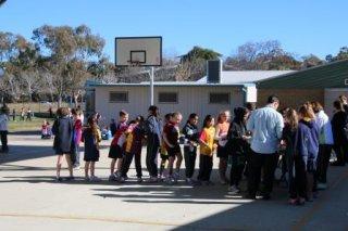 Junior School defibrillator BBQ