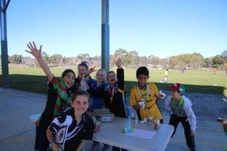 Junior School Kids Matter Action Team (KAT) helping with the defibrillator BBQ