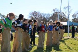 Defibrillator fundraiser - Junior School, sack races