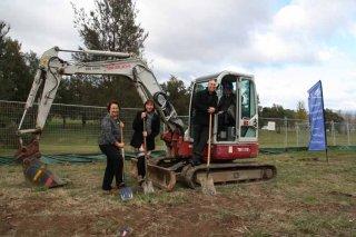 Turning the sod-Executive Team excavator