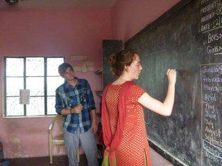 India Mission 2011 - Teaching at Good Shepherd School, at Solapur